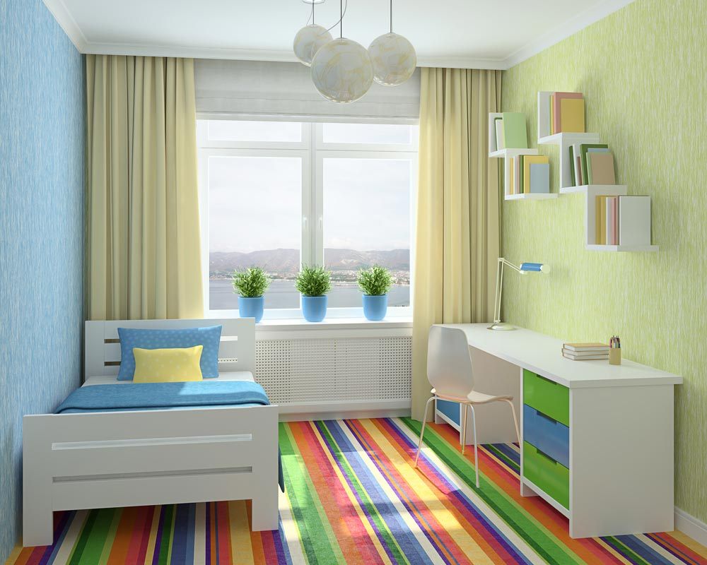 необычная детская комната для ребенка фото