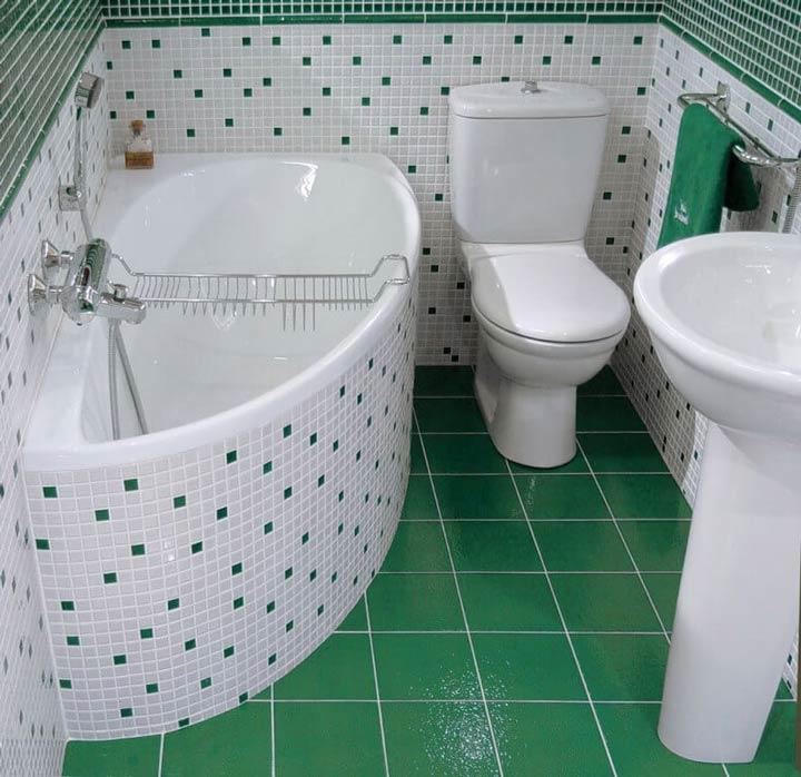 маленькая ванная и санузел где зоны 0 1 и 2