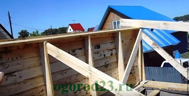 Односкатная крыша своими руками пошагово 3