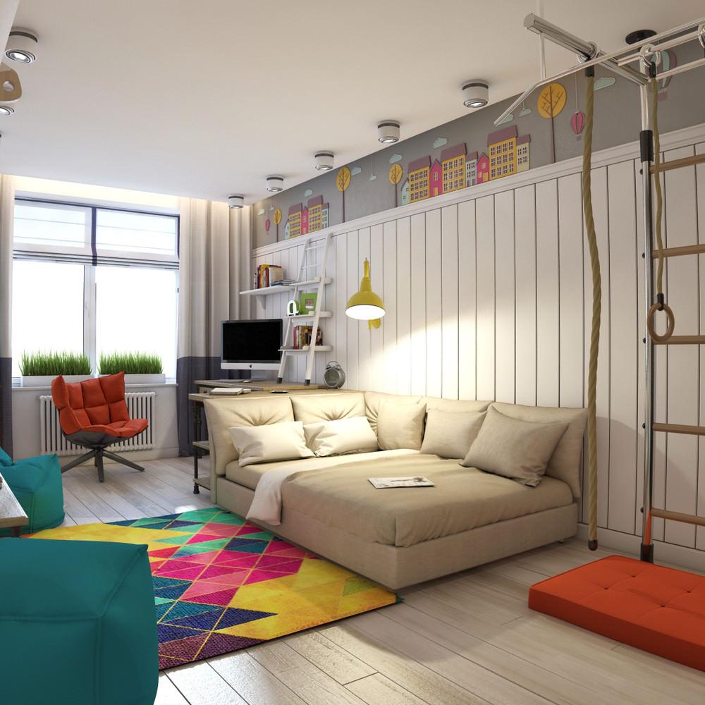 светлая детская спальня для мальчика