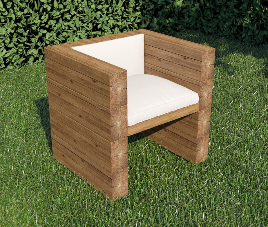 50 фото-идей дачной мебели из дерева: