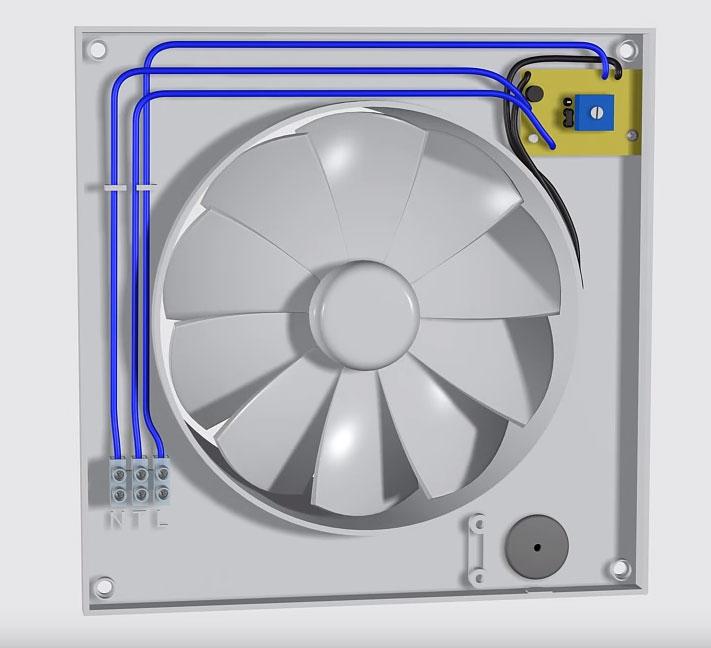 как подключить провода на вентиляторе в ванной с таймером