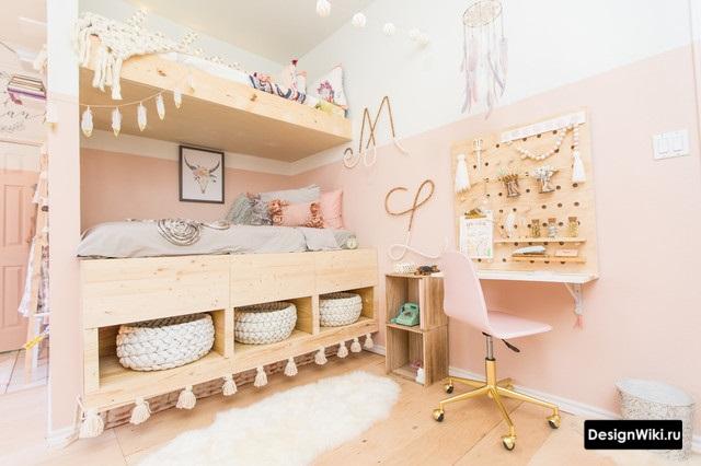 Нежная скандинавская детская комната