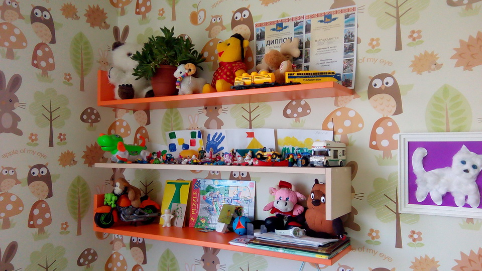 Книжная полка в детской. Фото 1