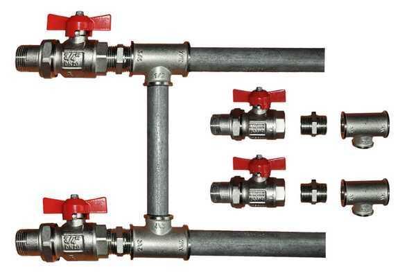 Боковое подключение с байпасом (однотрубная система)