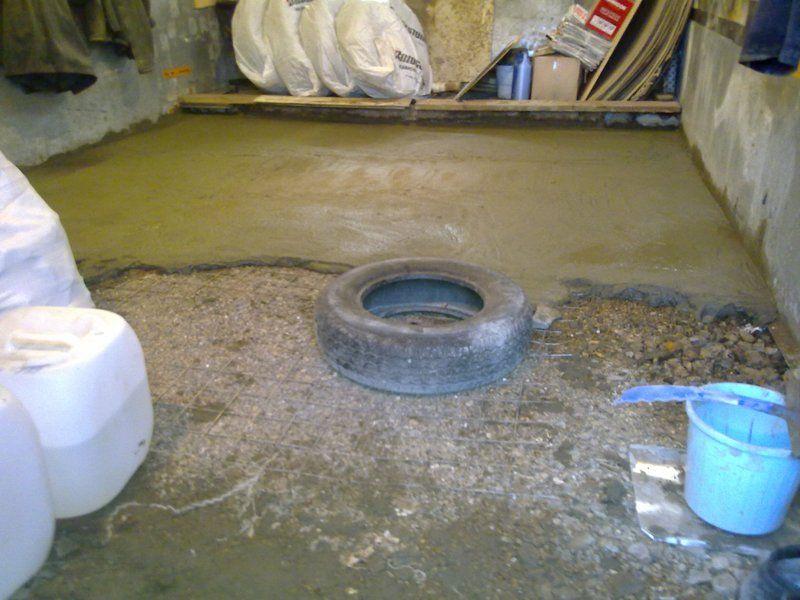 Для изготовления пола лучше применить бетон