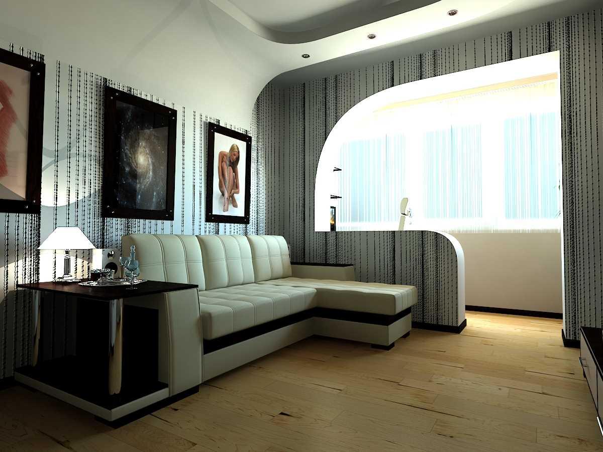 вариант красивого интерьера маленькой комнаты
