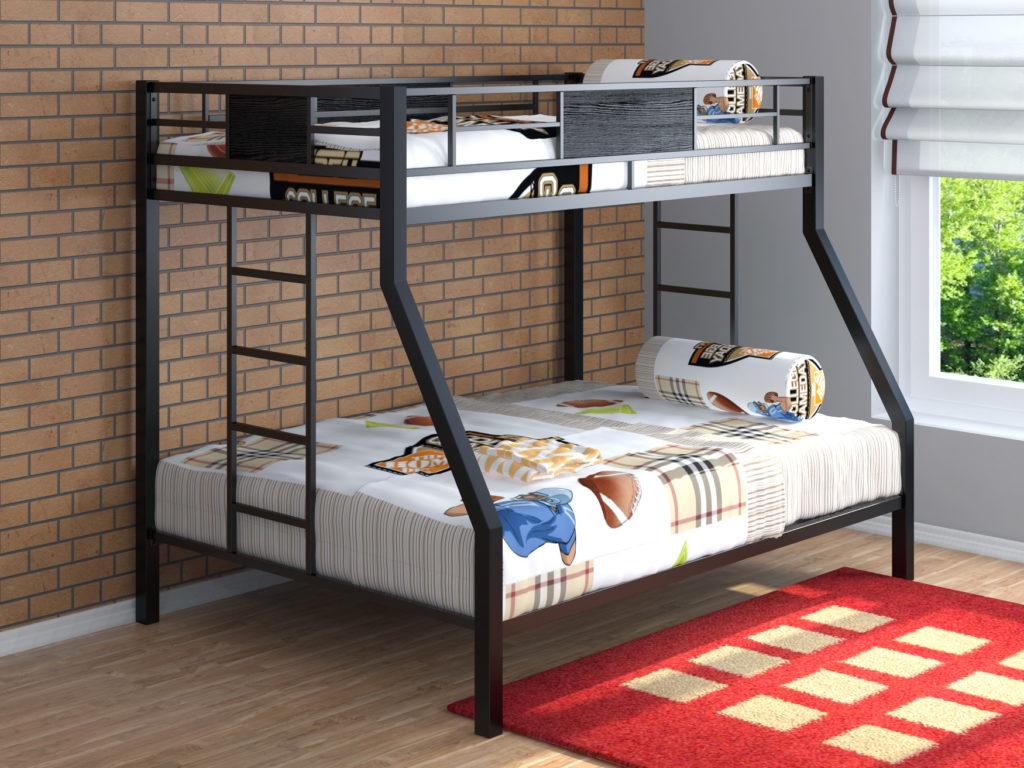 Двухъярусная кровать из металлопрофиля