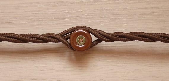 Витые провода в оболочке из шелка