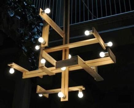 Мастер-класс: светильники из досок