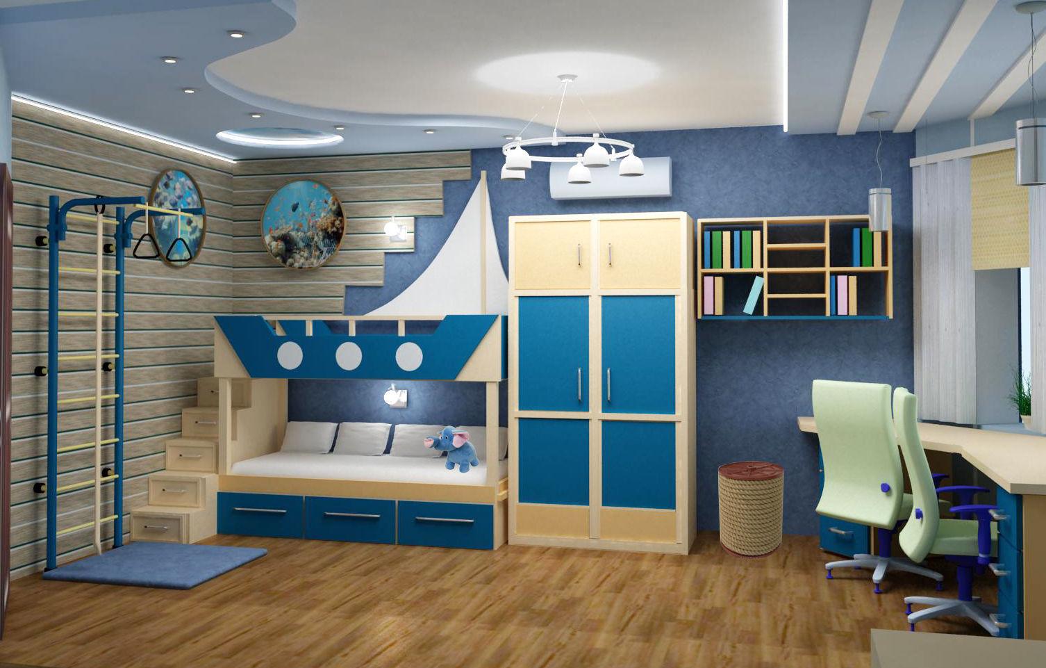 красивая детская спальня для ребенка
