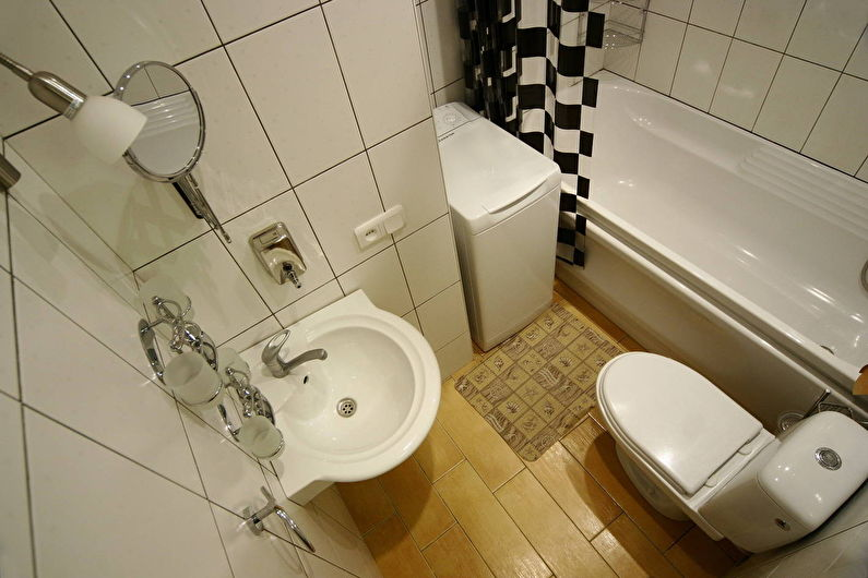 Перепланировка маленькой ванной комнаты
