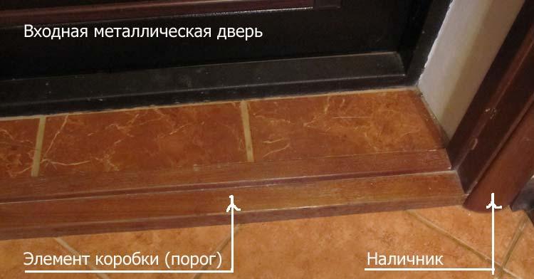 Дверная коробка с порогом