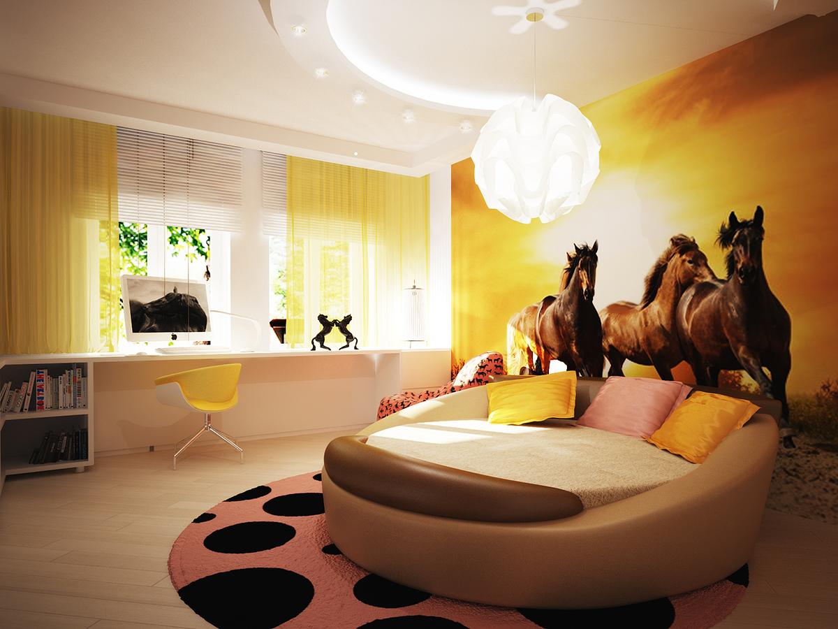 светлая детская комната для ребенка фото