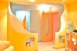 желтый дизайн гостинной
