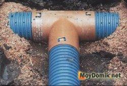 Укладка перфорированной трубы