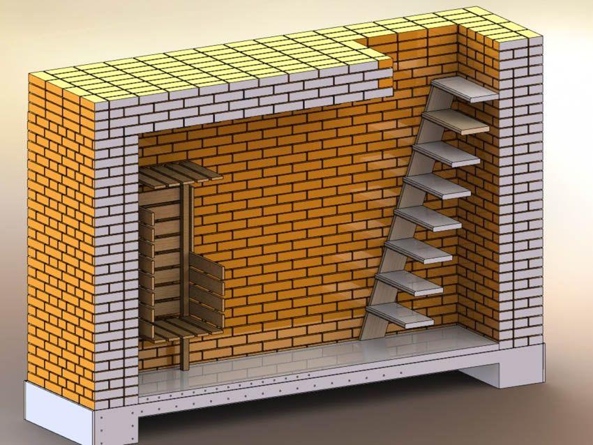 Стены делаем из кирпича