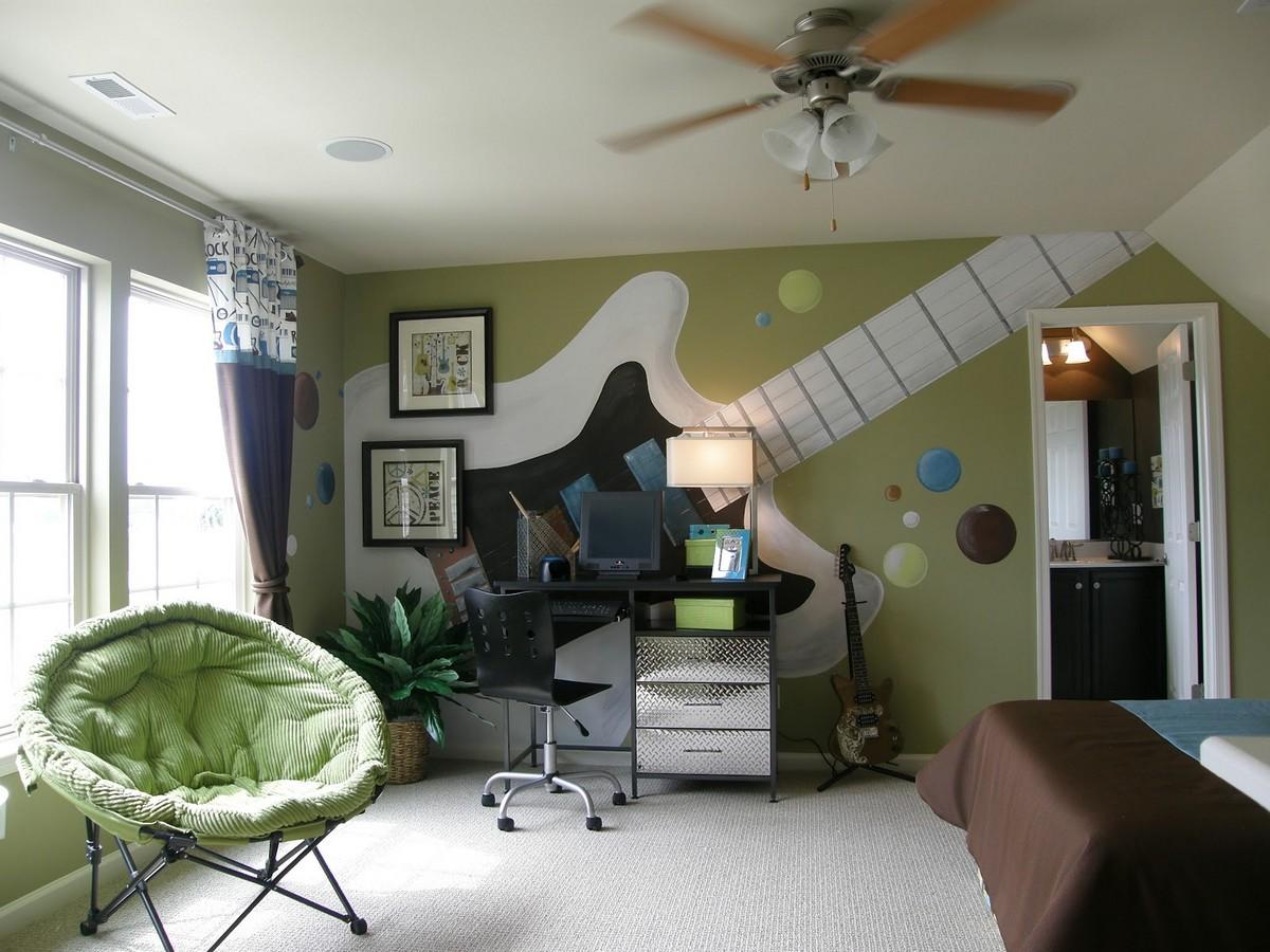 яркая детская комната для мальчика фото