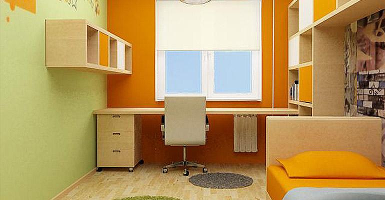 маленькая красивая комната для одного ребенка
