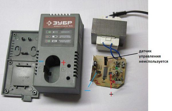 Использование зарядного устройства для шуруповерта