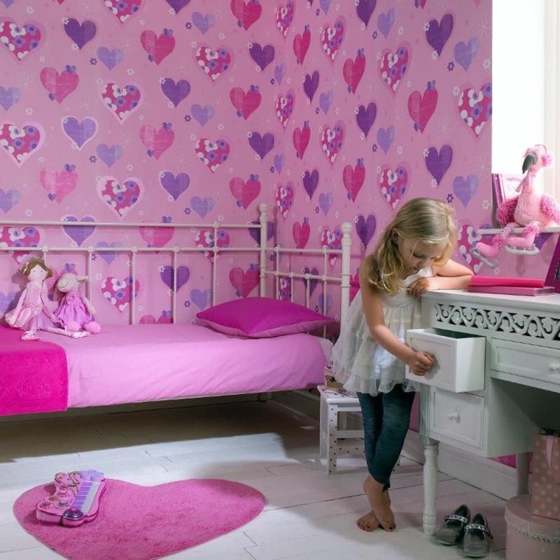 Обои в спальне для девочек 3