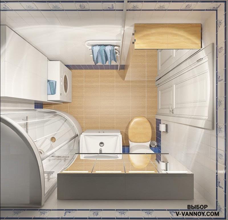 Стиральную машину часто устанавливают в один шкаф с бойлером, закрывая мебельным фасадом устройство, либо наоборот.