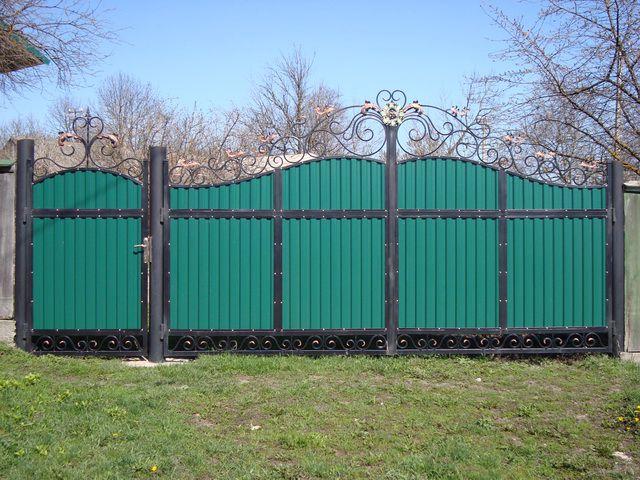 Ворота из профлиста своими руками