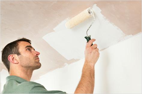 Как белить потолок