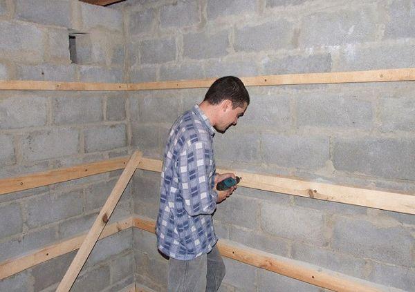 Монтаж деревянного каркаса