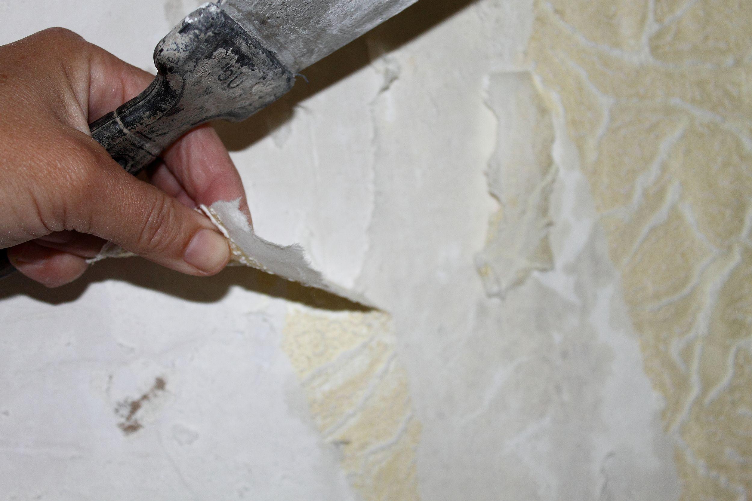 соскоблить со стен