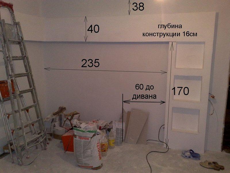 На фото - монтаж полок при ремонте, masterpomebeli.ru