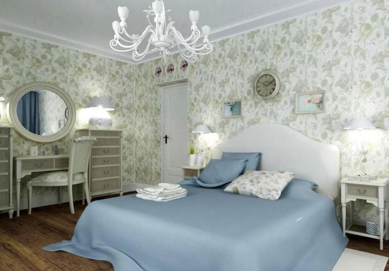 Обои для спальни в прованском стиле 2