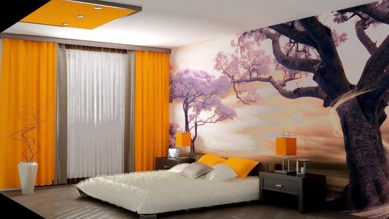 Обои для спальни в японском стиле 1