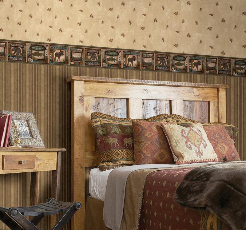 Обои для спальни в стиле кантри 1