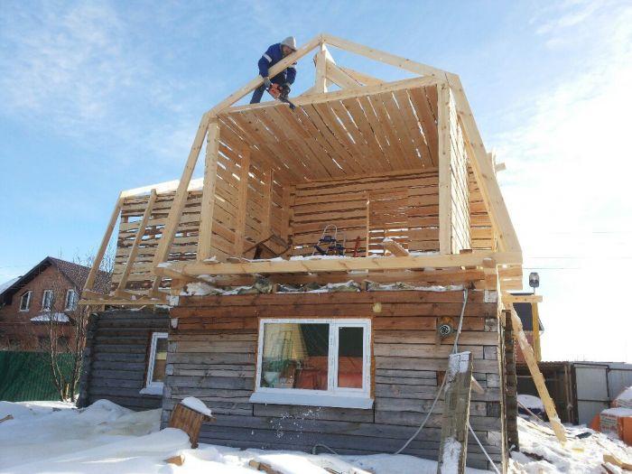 как достроить второй этаж в старом доме