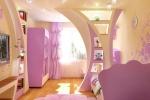 розовая отделка перегородки