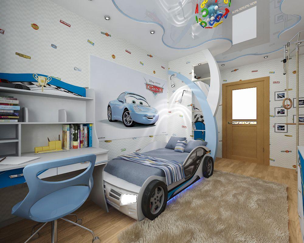 светлая спальня для мальчика