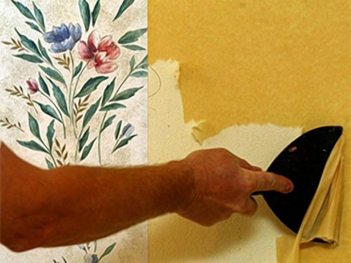 Как убрать жидкие обои со стены