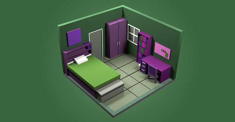 модель дизайна детской комнаты