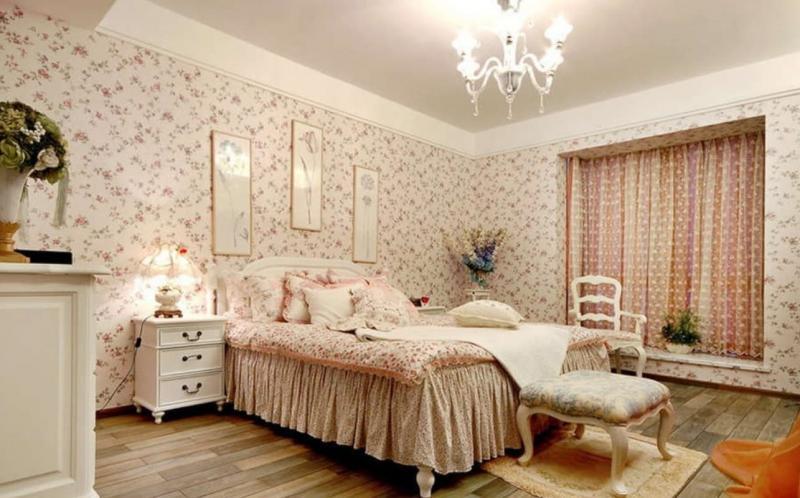 Обои для спальни в прованском стиле 4