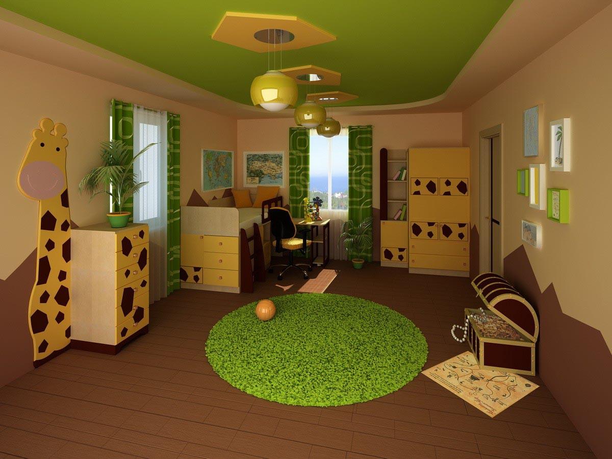 большая спальня для ребенка