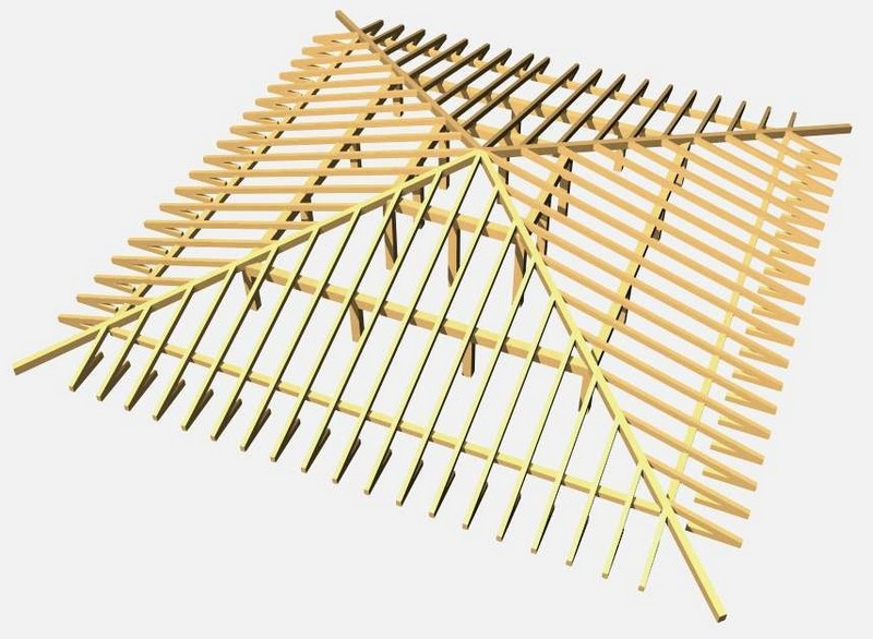 Шатровая крыша - конструкция