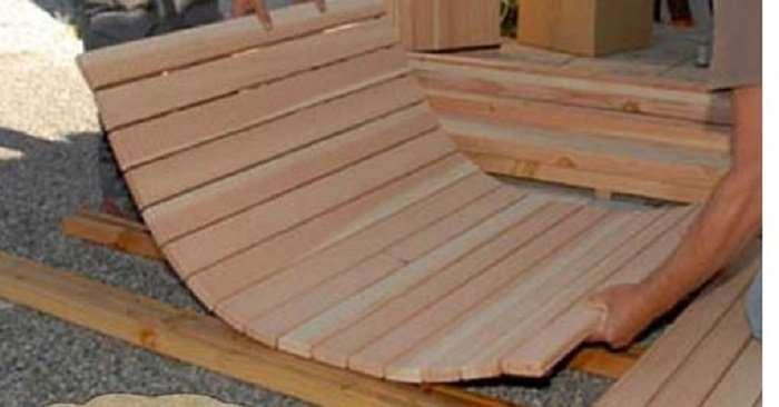 Гибкие деревянные трапы