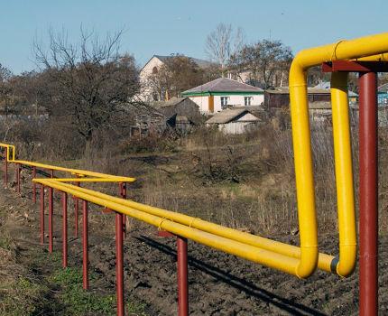 Газопровод к участку