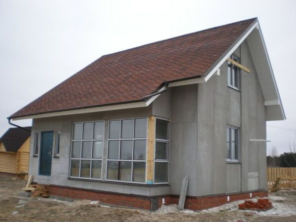 Дом, облицованный цементно-стружечной плитой (ЦСП)
