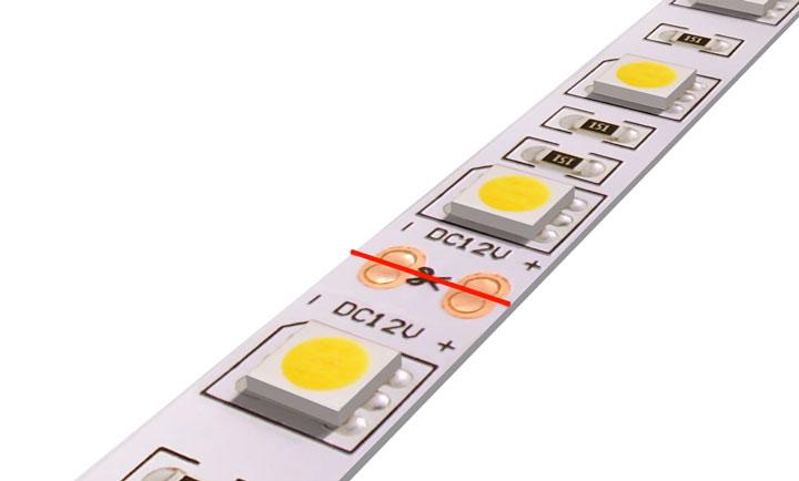 где можно резать светодиодную ленту
