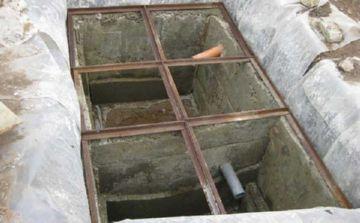 двухкамерный септик из бетонна