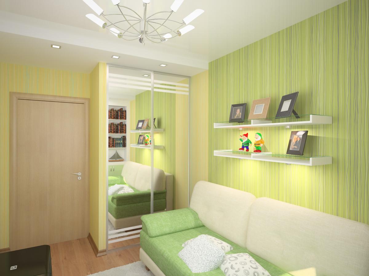 Грамотный интерьер комнатки в «хрущевке»