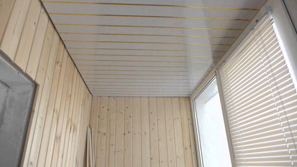 Ремонт потолка на балконе: фото, своими руками