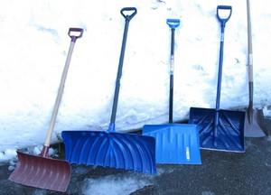 Разновидности лопат для уборки снега